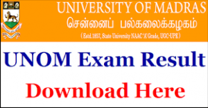 Madras University BCOM Result